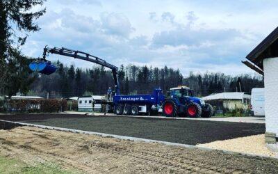 Herstellen einer befestigten Wiese (500m²)